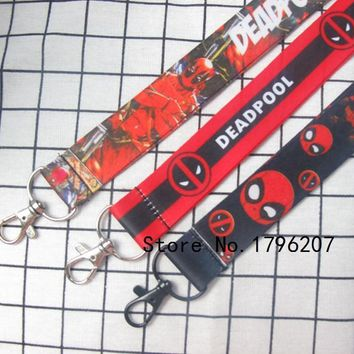 Deadpool Dead pool Taco New Style 10 PCS  Mix Cartoon   Neck Strap Lanyard Mobile Phone  Key Chain ID Badge Key Chains S-1 AT_70_6