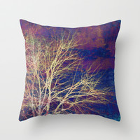 strange days Throw Pillow by Sylvia Cook Photography