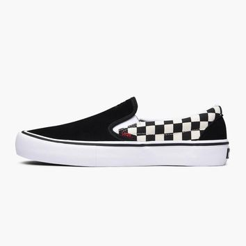 AUGUAU Vans x Thrasher Slip-On Pro Checker