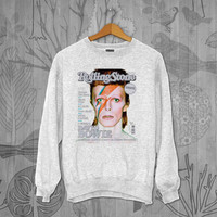 David Bowie Unisex Adult Long Sleeve T-Shirt Sweater Sweatshirt, for men and women Available Size S,M,L,XL,XXL