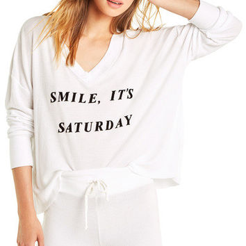 It's Saturday Haley Top - Wildfox