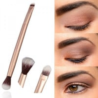 Dual-head Aluminum Tube Handle  Cosmetic Makeup Brushes