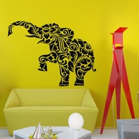 Elephant Floral Pattern Wall Vinyl Decal Sticker Wall Decor Home Interior Design Art Mural Z466