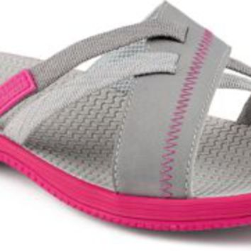 Sperry Top-Sider Point Breeze Sport Slide Sandal Gray/Pink, Size 6M  Women's Shoes