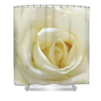 Love Is As Tender As A White Rose Shower Curtain