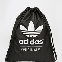 adidas Originals Gymsack in Black at asos.com