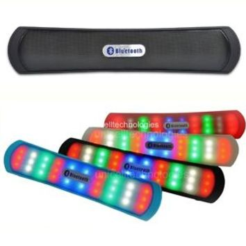 Portable LED Wireless Bluetooth Speaker Stereo Bass w/ Mic For iPhone Smartphone