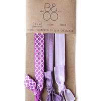Headband Set in Lavender Plum