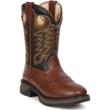 Durango Boy's Lil Durango 8 in. Pull-On Boot, Chestnut/Black