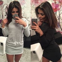 Long Sleeve Mini Sweater Dress
