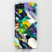 Green Intersections iPhone & iPod Case by Claudia McBain