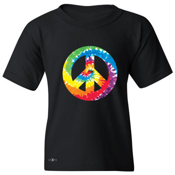 Zexpa Apparel™ Peace Sign TIE DYE Hippie Youth T-shirt Politics Graphic Retro Tee