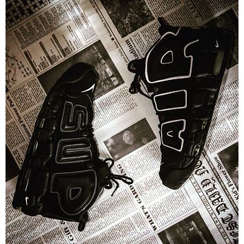 Nike Air More Uptempo x Supreme new couple casual sneakers Shoes