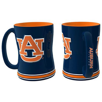 Auburn Tigers NCAA Coffee Mug - 15oz Sculpted (Single Mug)