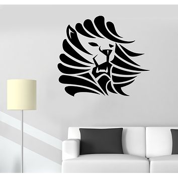 Wall Decal Lion Head Animal King Predator Mane Vinyl Sticker (ed1693)