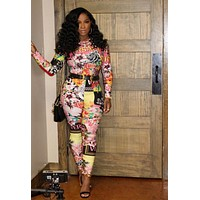 VERSACE Women Retro Long Sleeve Jumpsuit