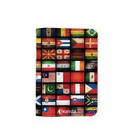 World Wide Flag Customized Cute Leather Passport Holder - Passport Covers - Passport Wallet_SUPERTRAMPshop