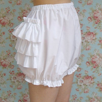 White cotton lolita bloomers with tiered by IntheStarlightEGL