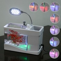 Mini Fish Tank USB Desktop Lamp Light Colorful LED Aquarium White