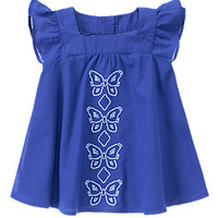 Embroidered Butterfly Dress