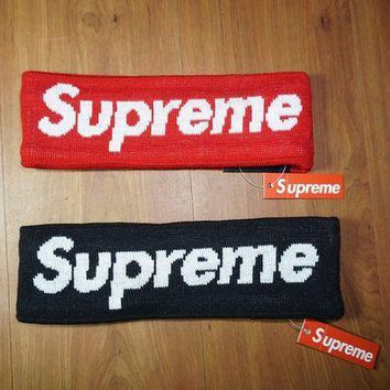 street fashion supreme FLEECE LINED HEADBAND
