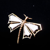 Mid-Century Modern Design Dragonfly Pin Brooch -- FREE SHIPPING