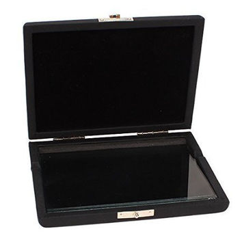 Aibay Clarinet Saxophone Reed Case For 6 Reeds Internal Glass Pane Black