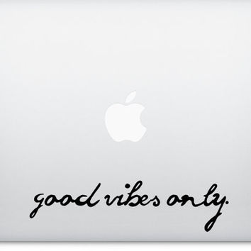 Good Vibes Only Laptop Decal | Applicable to Macbook, PC and Windows | Easily Removed | Graduate College Student Gift