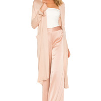 Halston Heritage Duster Cardigan With Sash in Almond | REVOLVE