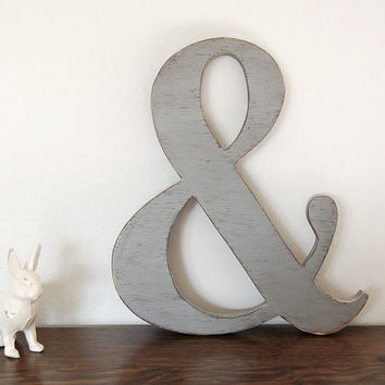 Ampersand wooden signs photo props custom sign by OldNewAgain