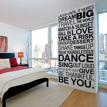 Quote wall decal - Simple Things of Life - Wall Decals , Home WallArt Decals