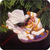 1997 Jasmine and Aladdin Hallmark Ornament