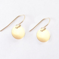 14K Gold Filled Round Earrings