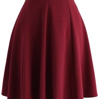 Closet Essential A-line Skirt in Wine