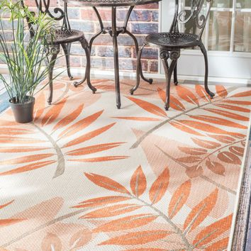 NuLOOM Outdoor Trudy Rug Orange