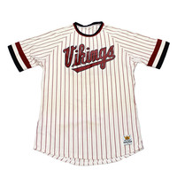 Vintage 1980s Sand-Knit Vikings Striped Baseball Jersey #20 Mens Size Medium