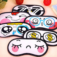 1pcs Lovely Eye Cover Sleeping Eye Mask Blindfold EyeshadeTravel Sleep Eyepatch Aid Cover Light Guide Health Care