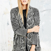 Staring at Stars Jacquard Cardigan in Mono - Urban Outfitters