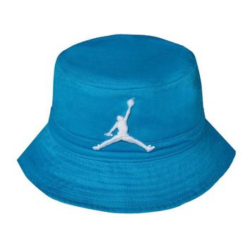 ... logo retro air striped fishing bucket hat teal 58922 ca303  discount  code for perfect jordan women men embroidery sun visor bucket hat fashion  a4260 ... 0ab9a5f1cd8b