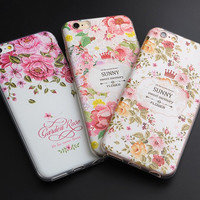 2017 Flower Cactus 3D Relief Silicone Case For iphone 7 7plus for iphone 5s 5 SE 6 6s 6plus Case TPU Case Daisy Phone Case -0328