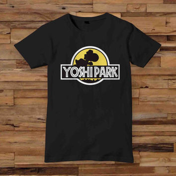 yoshi park T shirt White Black Dsign t-shirt men S,M,L,XL