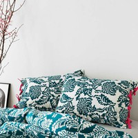 Stamped Blossom Blue Pillow Case Set - Urban Outfitters