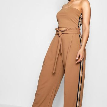 Plus Liv Sport Stripe Top + Wide Leg Co-ord | Boohoo