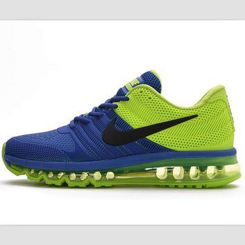 NIKE fashion casual shoes sports shock absorbing running shoes Sapphire blue green