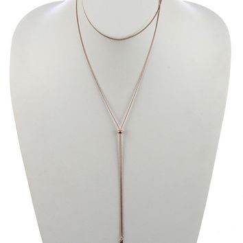 Serpentine Chain Adjustable Y Necklace