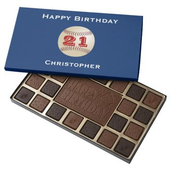 21st Birthday Chocolate Candy Baseball Personalize