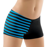 Stripe and Solid Dance Shorts; Balera