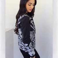 {REHAB CLOTHING} Bandana Jacket- Black