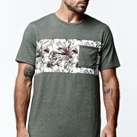 On The Byas Tenor Chest Panel Pocket Crew T-Shirt - Mens Tee - Green