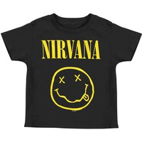 Nirvana Boys' Smile Toddler T Childrens T-shirt Black